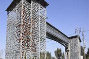 На станции Шамалган введен в эксплуатацию надземный  пешеходный мост