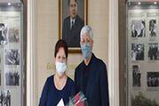 В Алматинской области поздравили ветерана-педагога